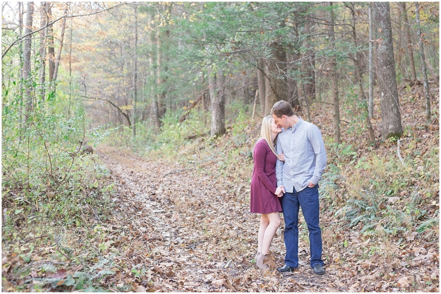 fall-wooded-engagement-session
