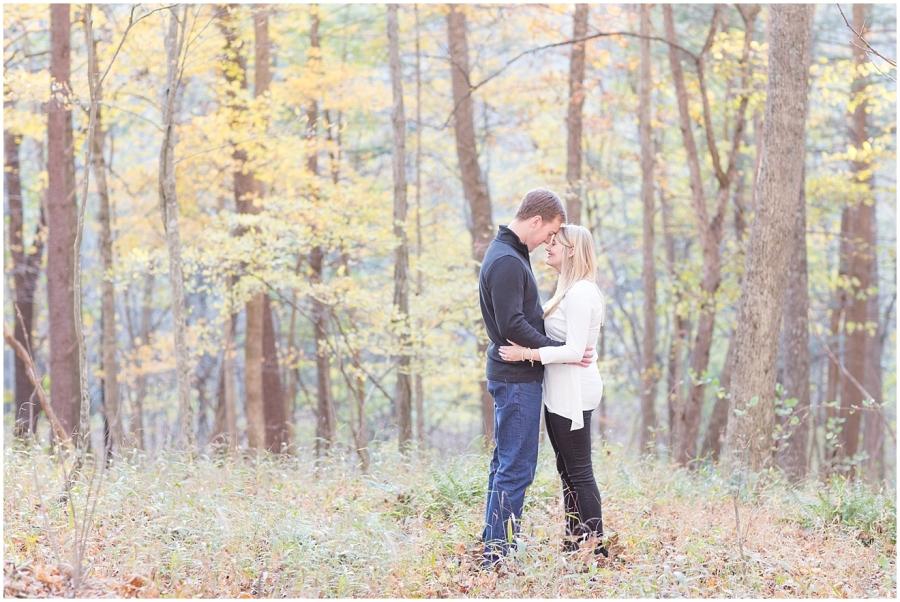 romantic-woodland-engagement