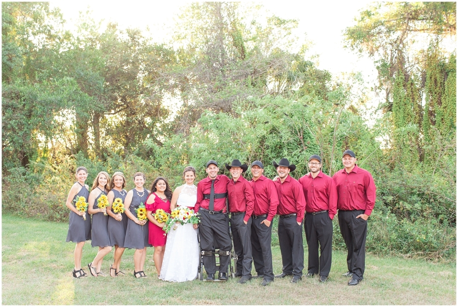red-gray-wedding-with-sunflowers